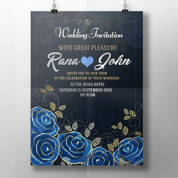 Vector Blue Lace Wedding Background Blue Wedding Invitations Royal Blue Wedding Invitations Wedding Invitations