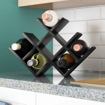 Butterfly 8 Bottle Tabletop Wine Bottle Rack With Images Table