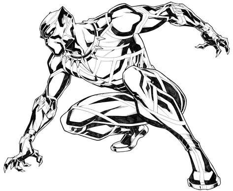 Black Panther Black White Art Black Panther Comic Black Panther Art Black Panther Drawing