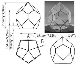 Glass decor hend made craft projecr book by Brillant3d Pattern geometric glass terrarium