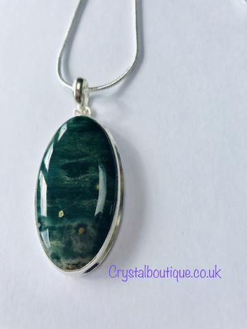 Crystal Boutique Products Ocean Jasper Crystal Healing Pendant Necklace Shopify Healing Jewelry Healing Crystal Jewelry Decorative Items