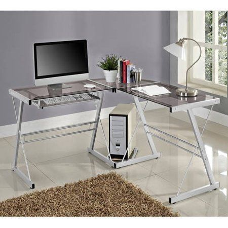 Home Glassofficedesksmallspaces Home Contemporary Desk