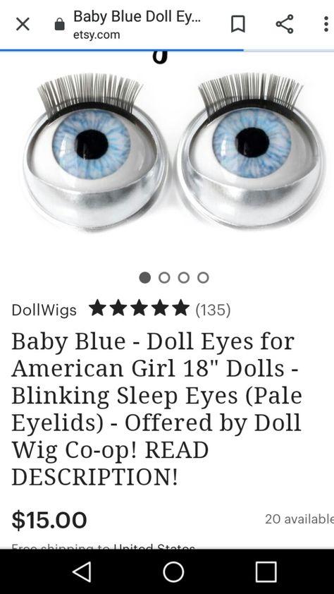 Doll Eyes Sea Green Sleep Fit American Girl Dolls Eye Swap Replace Repair Fix