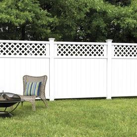 Vinyl Fence Fence Panels At Lowes Com Vinyl Fence Panels White Vinyl Fence Lattice Fence