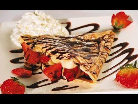 Crepas Con Harina De Hot Cakes Rellenas De Queso Crema Y