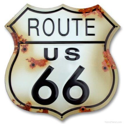 Route 66 Metal Postcard The Mother Road Mini Sign Great Gift!