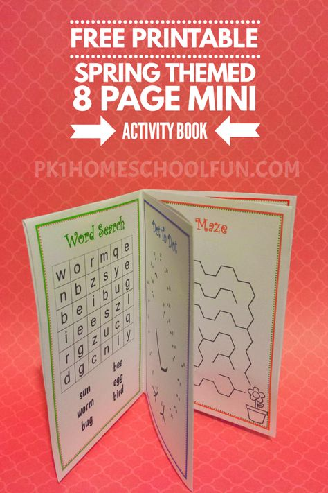 Free Printable Spring Activity (Mini) Book   Homeschool Printables ...