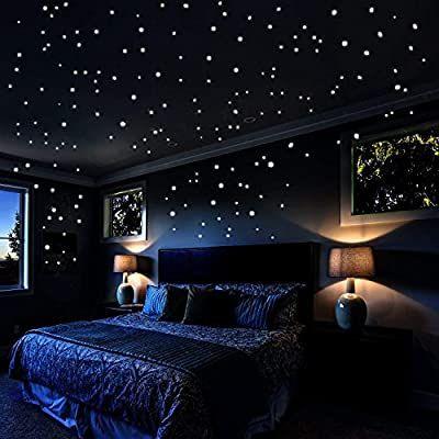 Pegatinas De Pared Que Brillan En La Oscuridad 2 Decoración De Dormitorio Para Hombres Decoraciones De Dormitorio Decoración De Habitación Juvenil