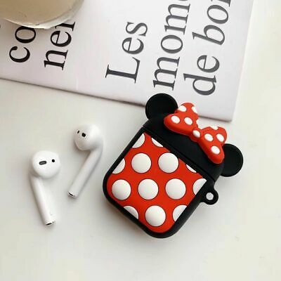 Disney 3d Cartoon For Apple Airpods 1 2 Earphone Protector Charging Case Cover Ebay In 2020 Airpod Case Earphone Case Pattern Iphone Case