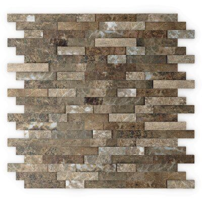 Speed Tiles 12 X 12 Natural Stone Peel Stick Mosaic Tile In