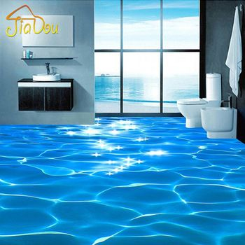 Custom Photo Floor Wallpaper 3d Sea Water Ripples Hotel Bathroom Mural Pvc Wallpaper Self Adhesive Waterproof Floor Wallpa Bad Wandbild Vinyl Wallpaper Tapeten