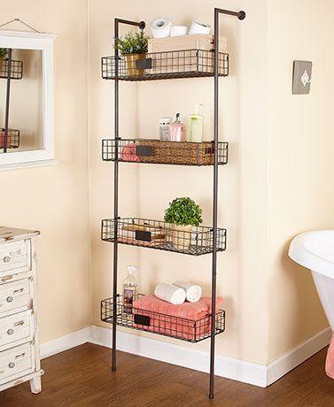 Decorative Wall Shelves Ladder Shelves Slim Storage Towers Lakeside Baskets On Wall Shelves In Bedroom Wall Shelves