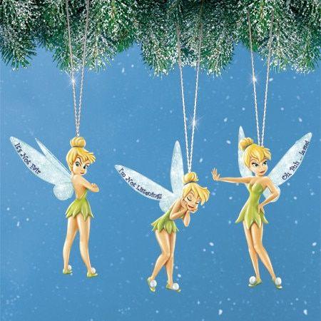 3 Christmas Ornament Set Details about  /Disney Tinker Bell /& Fairies Top