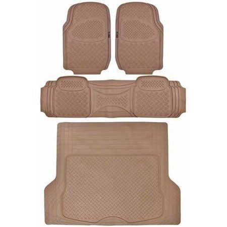 Motor Trend Heavy Duty Car Rubber Floor Mats With Large Cargo