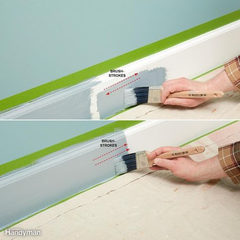 Slap It On, Then Smooth It Out - When painting trim or other woodwork with a…