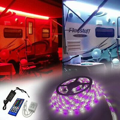 Sponsored Ebay Rv Awning Camper 12ft Rgb W Color Changing Led Strip Light Kit Dual Lights In 2020 Led Strip Lighting Color Changing Led Strip Lighting