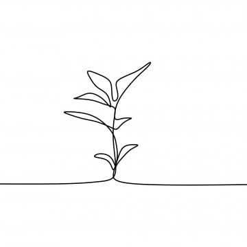 Plant Growing Continuous Line Art Drawing Vector Illustration Doodle Abstract Plant Png And Vector With Transparent Background For Free Download Line Art Drawings Abstract Line Art Handdrawn Illustration