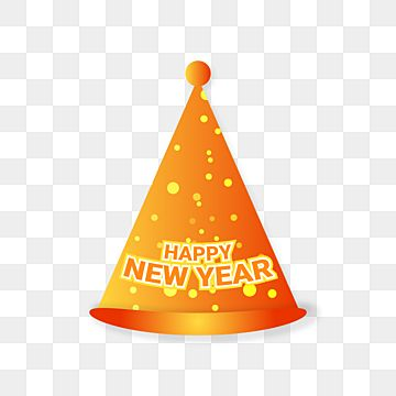 New Years Hat In Golden Color Hat New Years Hat Golden Png And Vector With Transparent Background For Free Download New Years Hat Gold Celebration Merry Christmas And Happy New Year