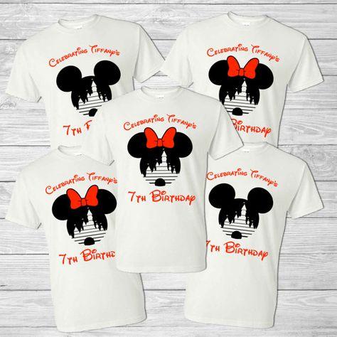 12a7b59f1042 Disney Family Vacation Shirt - Mickey Head & Cinderella's Castle -  Personalized Birthday Shirt