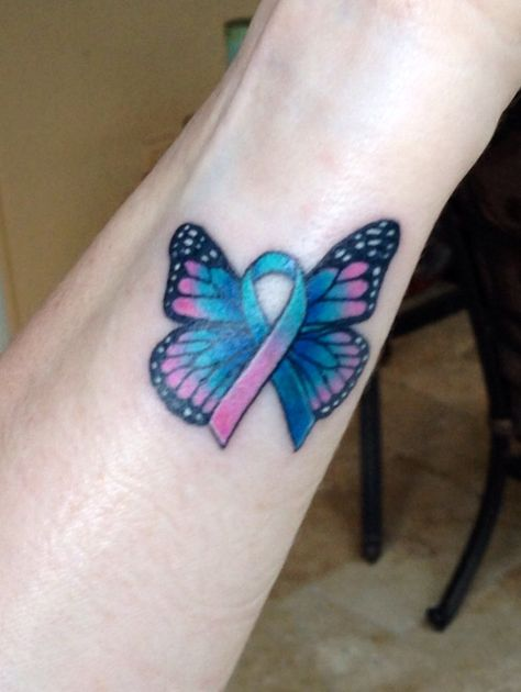 Thyroid Cancer Butterfly Tattoo - for my daughter