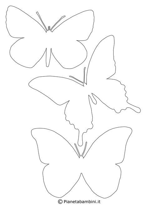 Sagome Di Farfalle Da Colorare E Ritagliare Per Bambini Modello