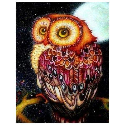 Owl Under the Moonlight - DIY Diamond Painting
