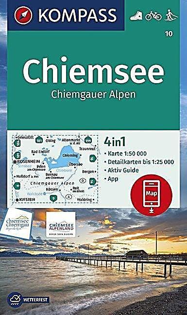 Kompass Wanderkarte Chiemsee Chiemgauer Alpen Karte Im Sinne