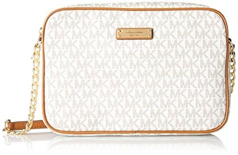 Michael Kors Women's Jet Set Large Crossbody Bag, Vanilla