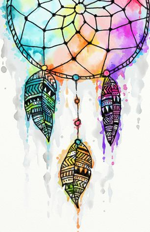 Dreamcatcher watercolor painting by Madotta   Nuvango
