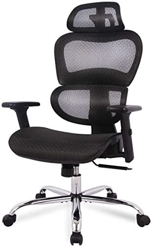 New Office Chair Ergonomics Mesh Chair Computer Chair Desk Chair High Back Chair W Adjustable Headrest And Armrest Top Rated Fu