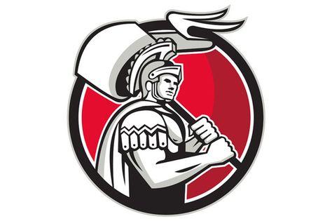 Roman Centurion Carry Flag Circle