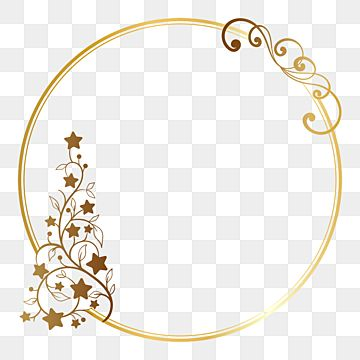 Decorative Circle Christmas Tree Frame Border Ornament Vector Illustration Border Clipart Gold Border Png And Vector With Transparent Background For Free Dow In 2021 Gold Clipart Card Illustration Christmas Tree Painting