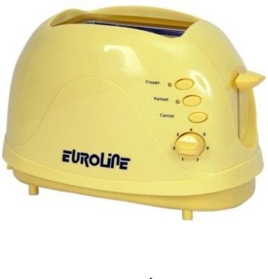 Euroline El 820 750 W Pop Up Toaster Yellow Pop Up Toaster