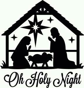Nativity silhouette - baby in cradle | hotel Betlem | Pinterest ...