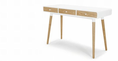 Edelweiss, Un Bureau, Frêne Et Blanc   Made.com