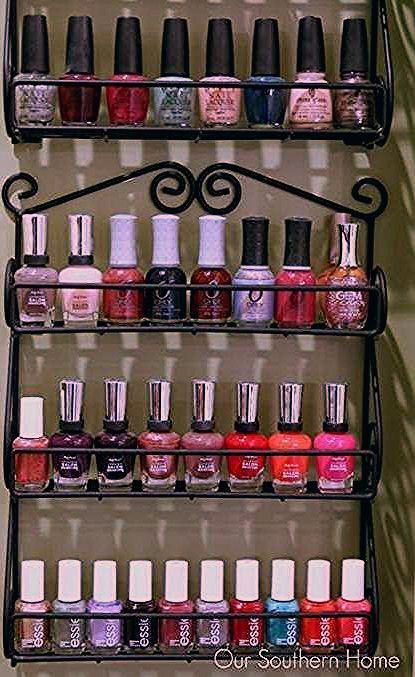 Storage Ideas For Bedrooms Dollar Stores Nail Polish 24 Best Ideas Bedrooms Dollar Nail Polish Storage Diy Diy Makeup Storage Diy Makeup Storage Organizers