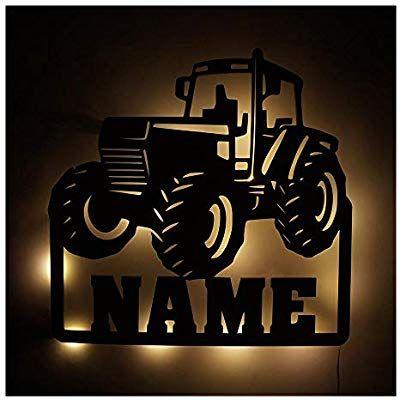 Mobel Deko Licht Trekker Traktor Lampe Mit Name N Fur Manner Mann Kind Er Junge N Jungs Ab 0 1 2 3 4 5 6 7 8 9 Mona Kinder Zimmer Kinderzimmer Lampen