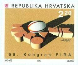 58th Congress Of The Fira Federation International De Rugby Philately Stamp Postage Stamps