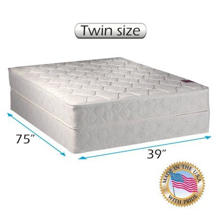 American Legacy Innerspring Coil Twin Size 39 X75 X8 Gentle Firm Mattress And Box Spring Set Fully Assembled O Mattress Sets Mattress Twin Mattress Size