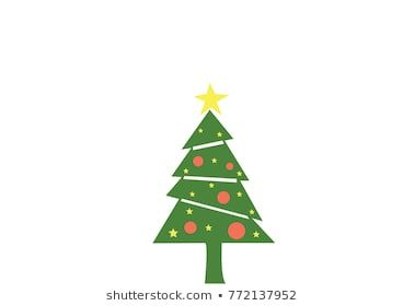 Vector Of Green Christmas Tree With Star And Ball Decoration For New Year And Holidays Icon Christmas Tree Design Green Christmas Tree Tree Designs