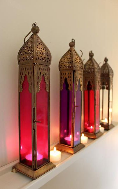 """Pink Tall Moroccan Style Lantern,  love them so much..........."""":)))"""