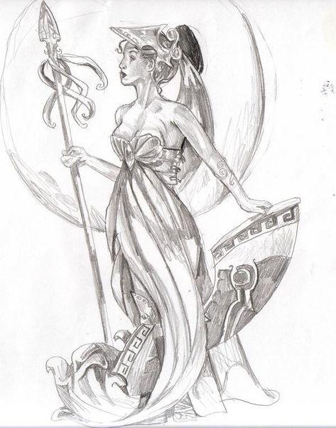 Athena - The Olympians Fan Art (12768618) - Fanpop