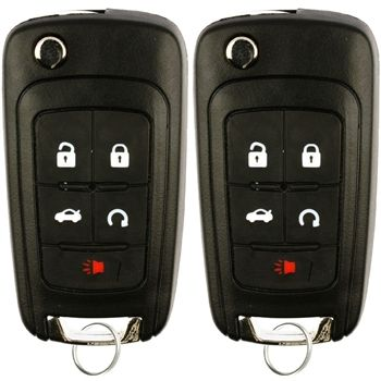 2 New Flip Key Keyless Entry Remote Start For 2010 2016 Buick
