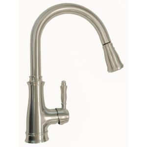 Luxurious Single Handle Pull Down Sprayer Kitchen Faucet In