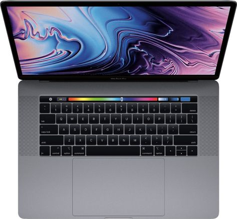 """Apple - MacBook Pro - 15"""" Display with Touch Bar - Intel Core i7 - 16GB Memory - AMD Radeon Pro 555X - 256GB SSD - Space Gray"""
