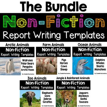 Animal Reports Bundle Pack Informational Non Fiction Report Writing Report Writing Animal Report Animal Nonfiction