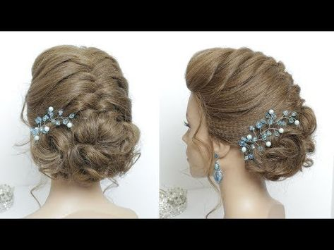 323d9725aa02 Easy Prom Upstyle. Wedding Updos. Hair Tutorial - YouTube