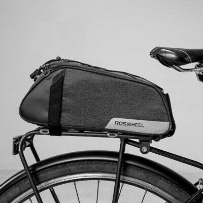 Bicycle Bike Seat Shoulder Bag Rear Tail Rack Pannier Cycling Handbag Pack Blue