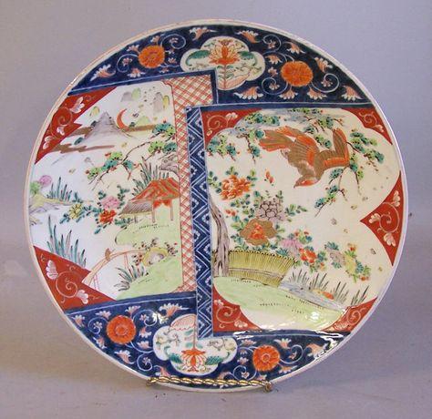 Antique Japanese Edo porcelain Imari Charger