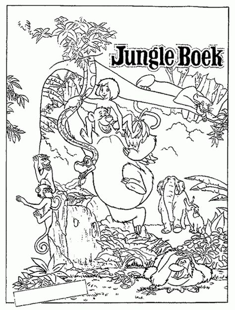 18 Ide The Jungle Book Coloring Pages For Children The Jungle Book Gambar Disney